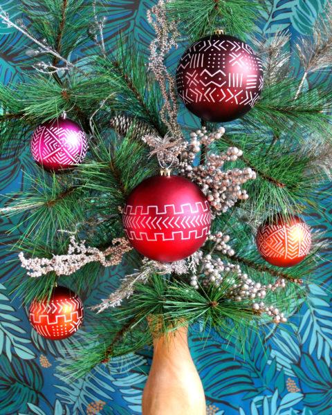 DIY Mudcloth Ornaments