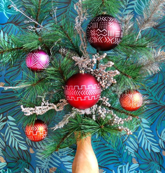 ornament DIY in process
